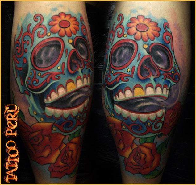 Tatuajes: Historia de los Tatuajes. Craneos_con_colores_vivos