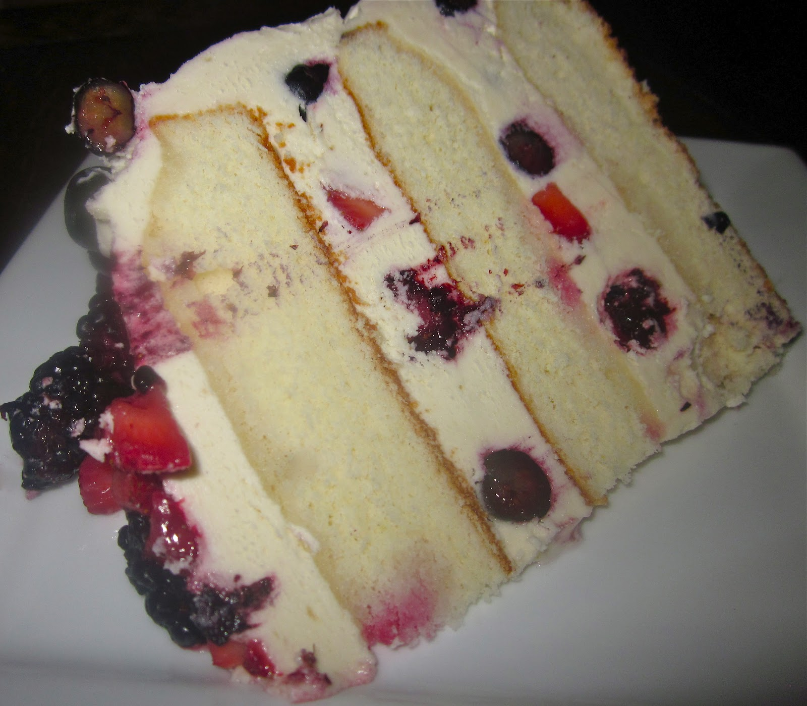 Haute + Heirloom: Mixed Berry Shortcake Layer Cake with Fresh Berries ...