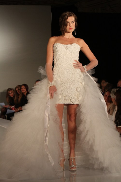 Brideindream Short Front And Long Back Wedding Dress