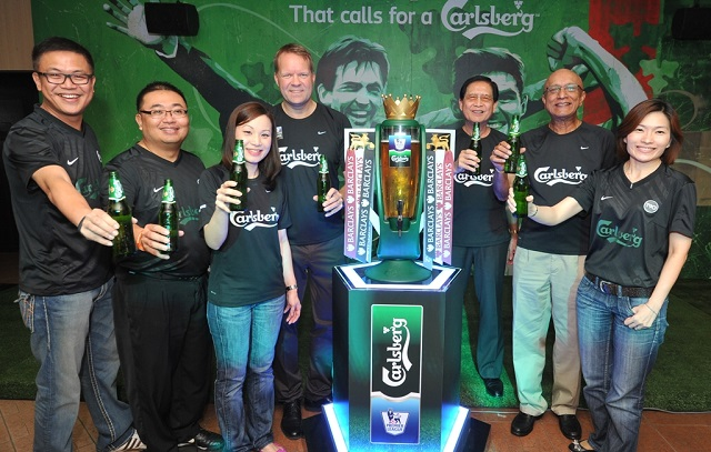 Carlsberg directors and senior management team celebrating the launch of Carlsberg's BPL consumer campaign.