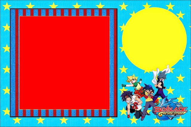 beyblade  free printable invitations