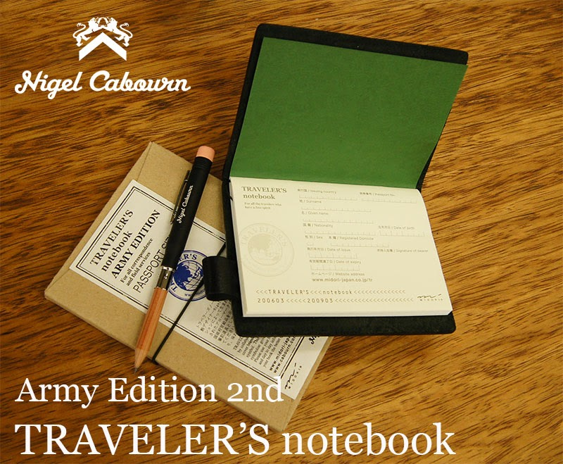 "TRAVELER'S notebook""Army Edition 2nd"""