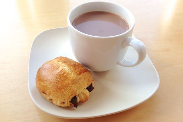 Vegan Pain au Chocolat with Hot Chocolate
