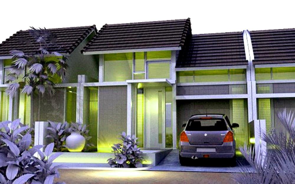 Contoh Model Cat Rumah Minimalis 2014 warna hijau