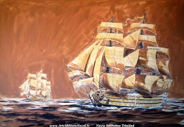 Pintura del navío Santísima Trinidad 3