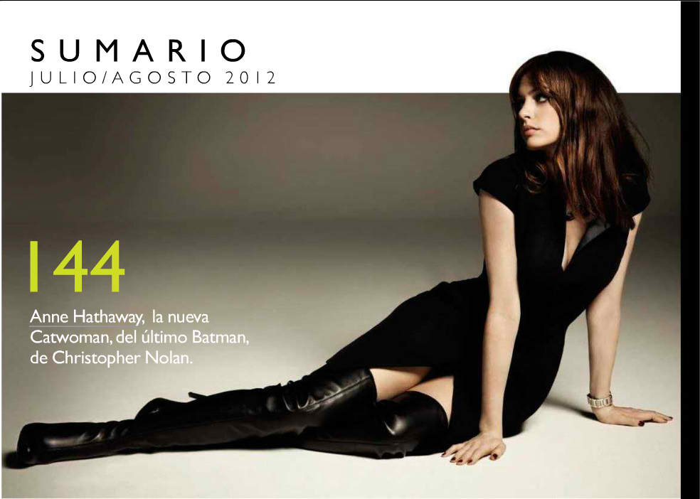 Anne Hathaway in GQ Spain - Leather Celebrities
