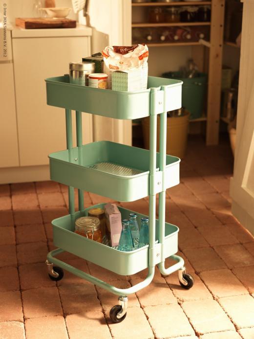 Mi rinc n de sue os carritos como mesa auxiliar en la cocina for Carrito cocina ikea