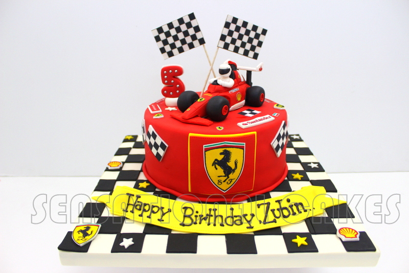 The Sensational Cakes: FORMULA 1 FERRARI 3D CAKE SINGAPORE ...