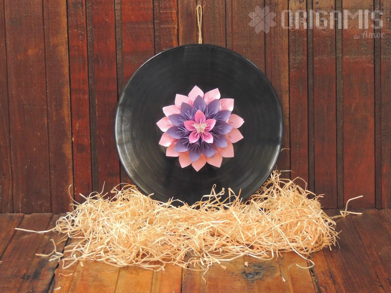 Mandala de Origami em Vinil
