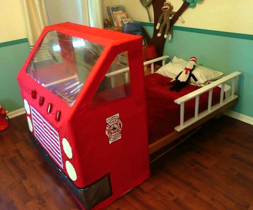 Fire Engine Toddler Bed u2022 Ready to Roll & Ashbee Design: Fire Engine Toddler Bed u2022 Ready to Roll