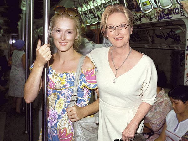 Meryl Streep in 1980 (left) and in 2013
