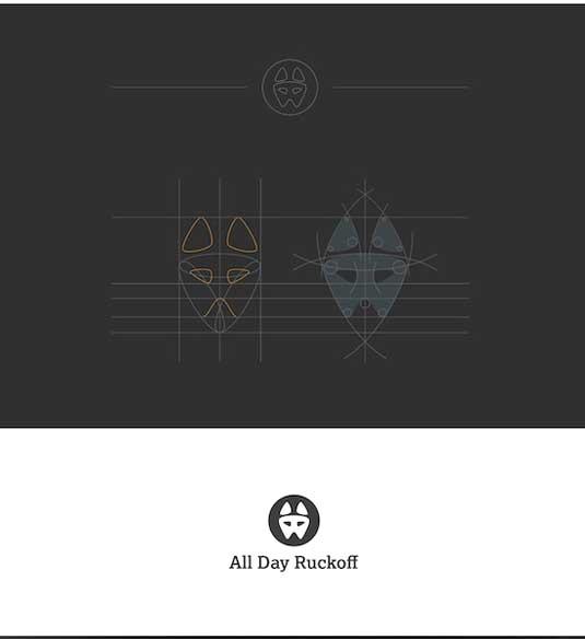 (Chú thích ảnh: Logo Ruckoff này đã lọt vào chung kết trong 'Top 9 Logo Designs tháng 9/2014 trên trang 99designs)