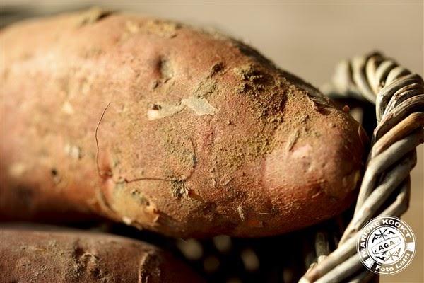 Coquilles op een bedje van zoete aardappel