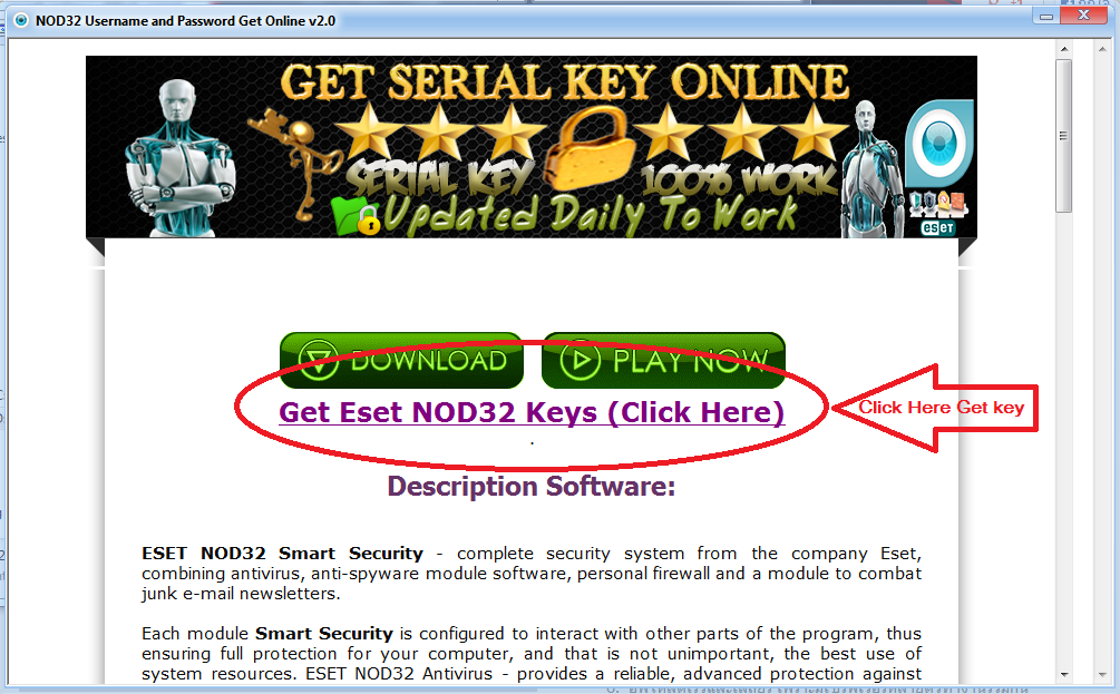 NOD32 Username and Password Get Online v2.0.