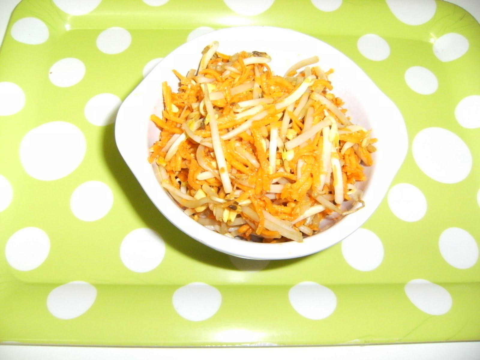 Les recettes chouettes de sissi carottes et germes de - Cuisiner les germes de soja ...