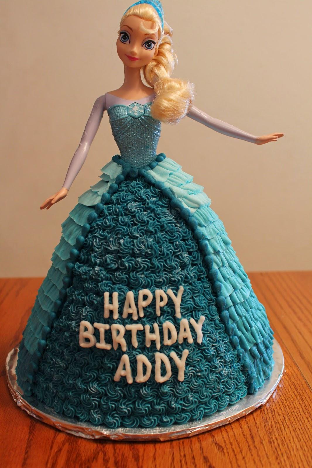 Elsa Doll Cake Images : The McClanahan 7: Elsa Doll Cake #frozencake