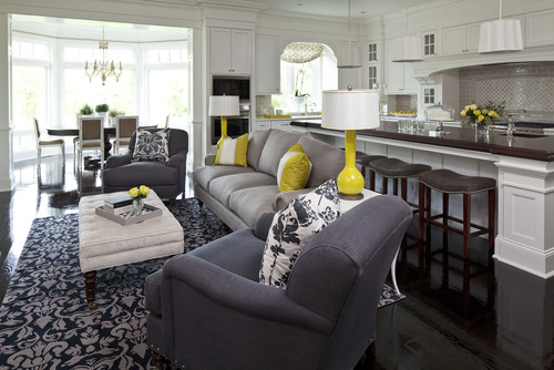 Open Concept Kitchen And Living Room Magnificent Decorating Inspiration
