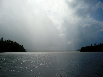 Summer rain on Red Lake, ON