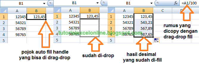Drag-drop copy rumus Excel