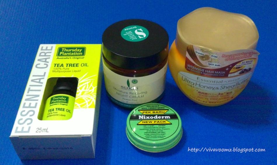 Tea tree oil sukin moisture restoring night cream essential