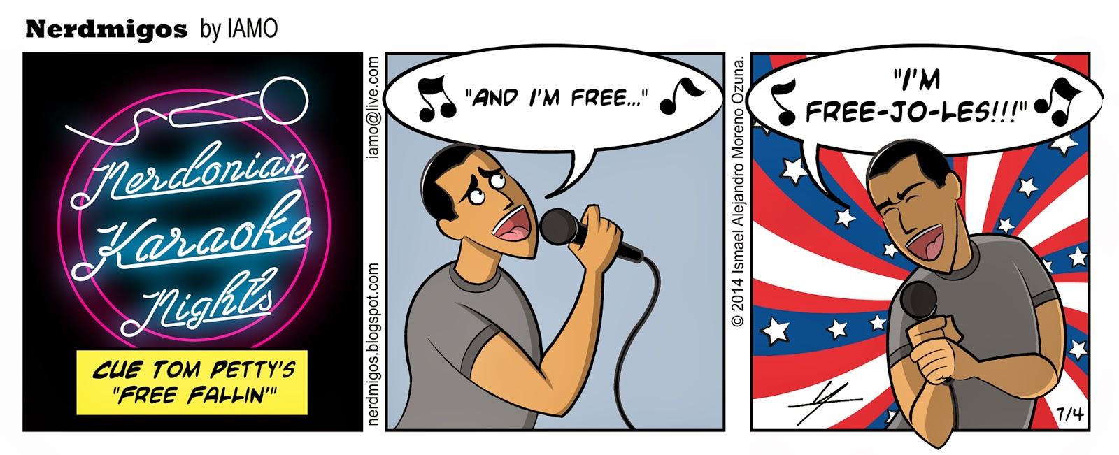 Nerdmigos Free Fallin Tom Petty Karaoke by IAMO