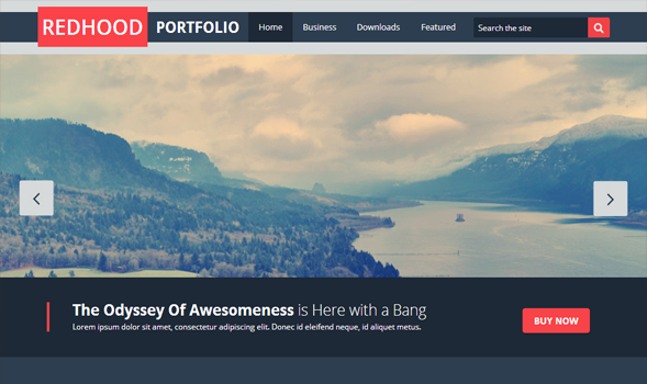 red hood portfolio blogger template templateism