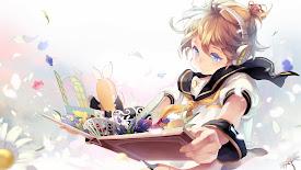 cute anime girl headphone listening music book hd wallpaper