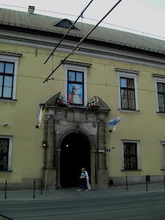 La finestra del Papa a Cracovia
