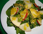 Ensalada de espinacas y manzana