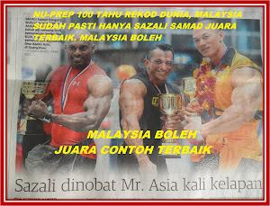 No1 Mr Asia Sazali Samad,bukan ramalan ia PASTI amalan displin yang tinggi,tawakal dari Nu-Prep 10