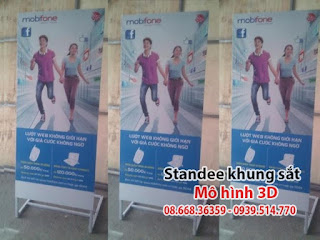 Sản xuất Standee Khung Sắt