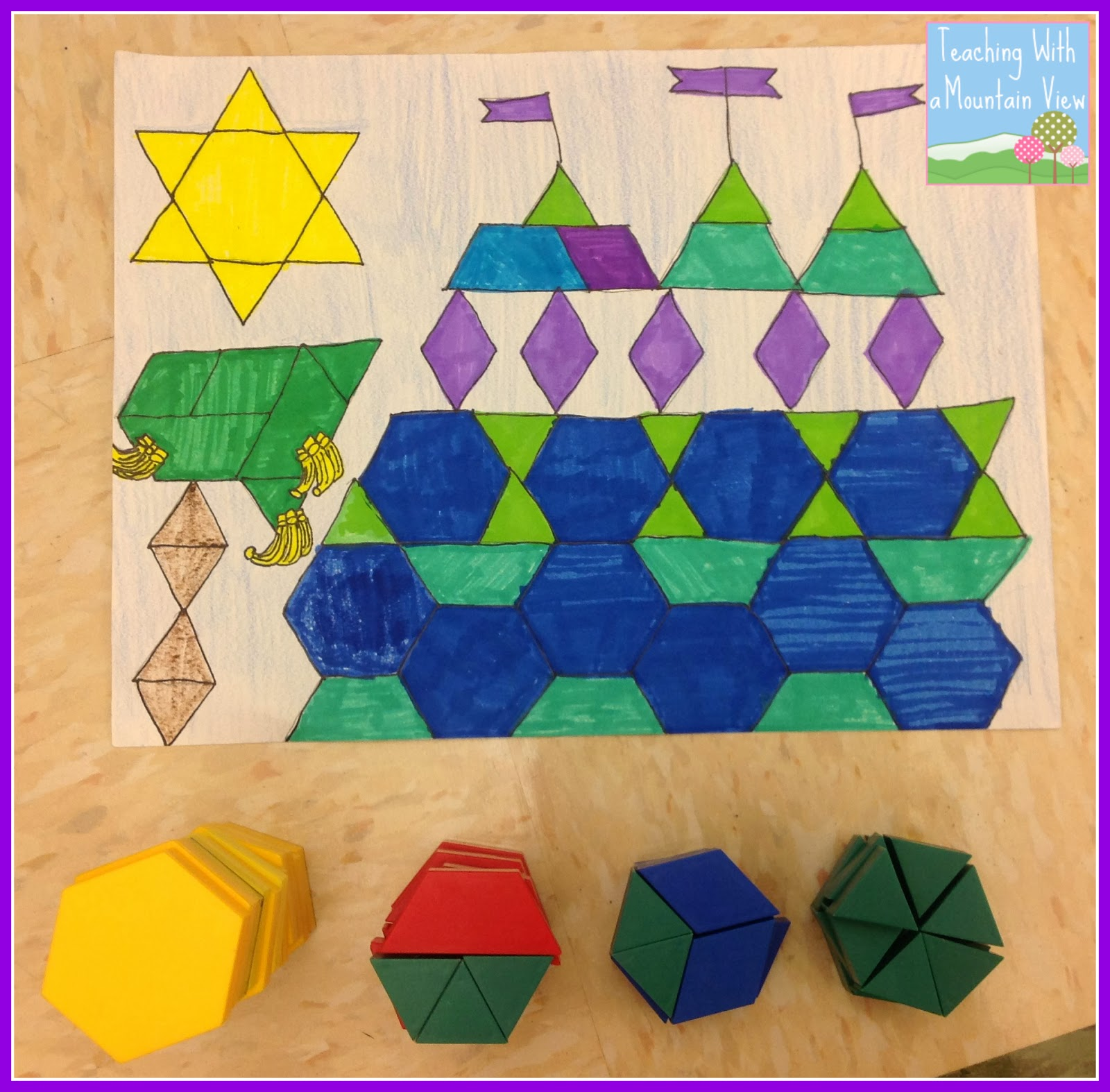 Pattern Block Fractions Interesting Design