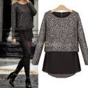 ladies black knitted designer sweater
