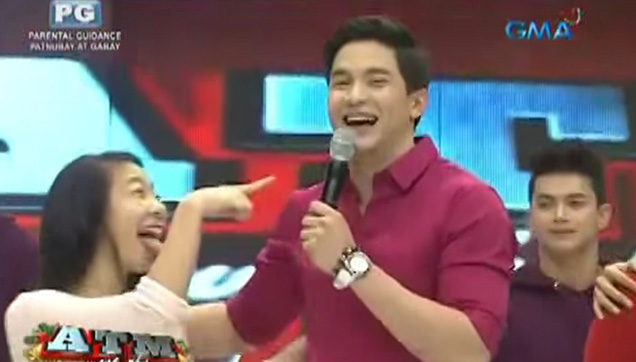 A female contestant played a joke on Alden Richards.