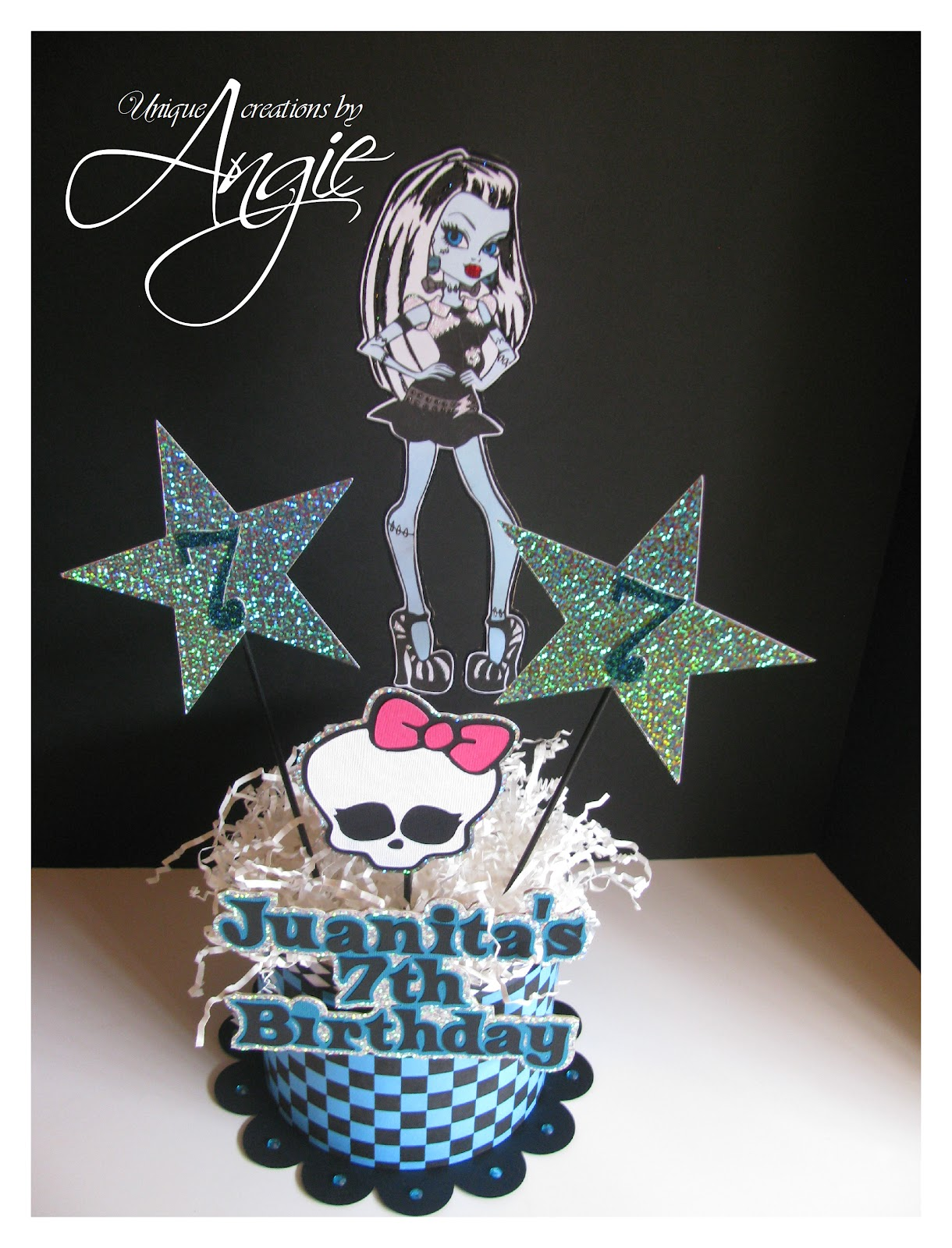 Scrappin Memories Monster High Bday Centerpieces