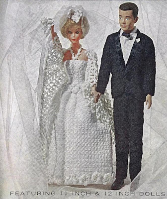 "The Vintage Pattern Files: Free 1960's Knitting & Crochet Patterns - Wedding Clothes for 11.5-12"" Dolls"
