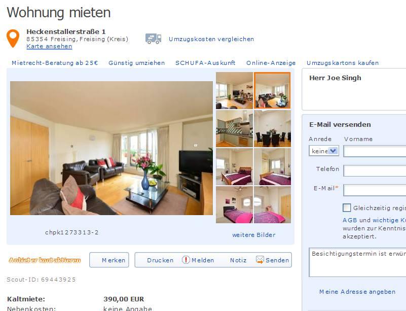 Wohnung Mieten Freising  Zimmer