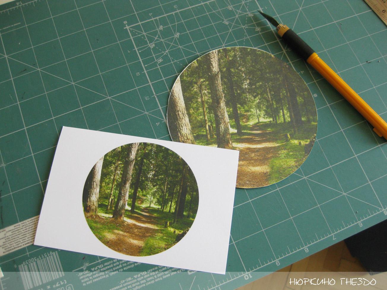 Печать фото на картоне