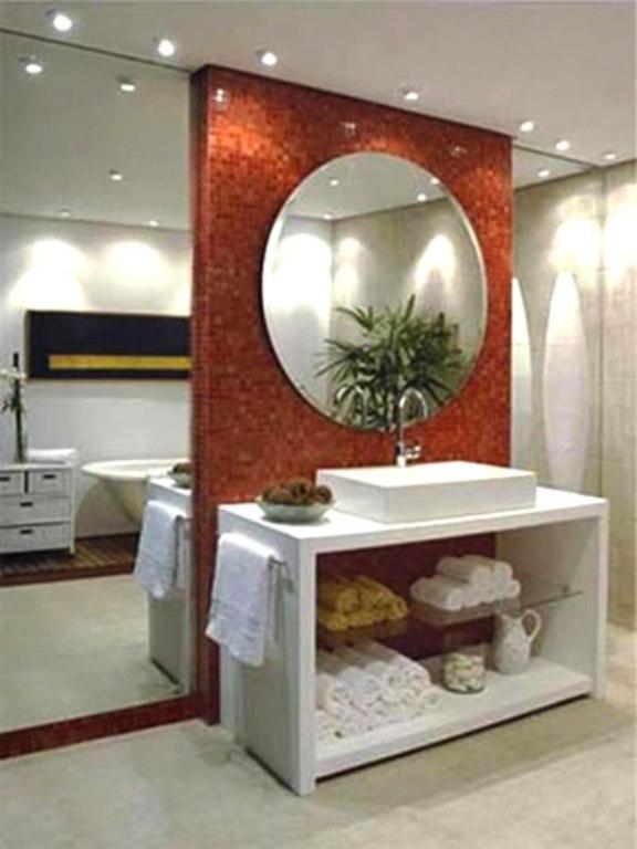 decorar lavabos redondos : decorar lavabos redondos:Mistura Que da Certo: Decoração: Espelhos em casa