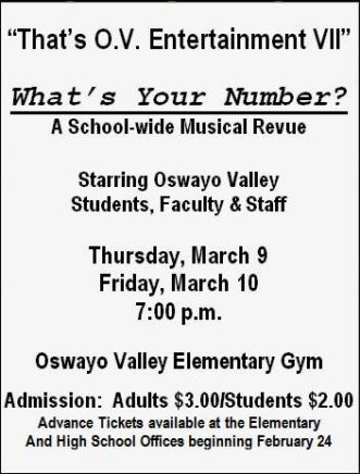 3-9/10 What's Your Number School Musical