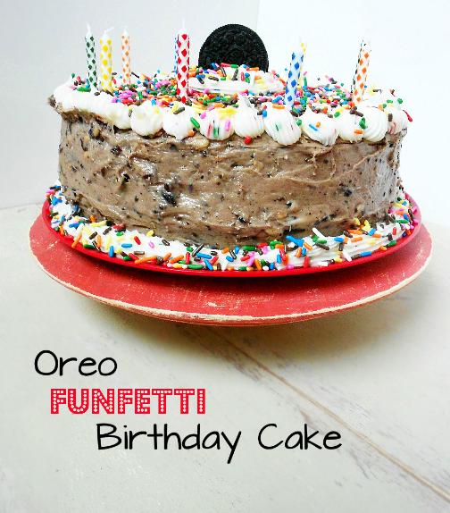 Sugarly Ever After: Oreo Funfetti Birthday Cake