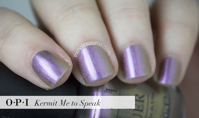 OPI Kermit Me to Speak Swatch | The Nailasaurus | British Nail Blog
