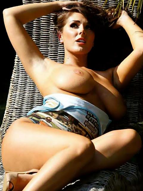 Lucy Pinder Topless 2014 Calendar Preview Photos indianudesi.com