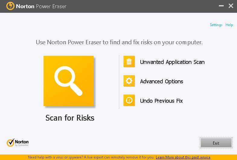 Norton Power Eraser - Solo Nuevas