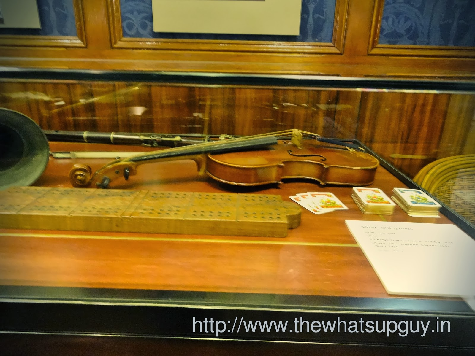 Violin in ship