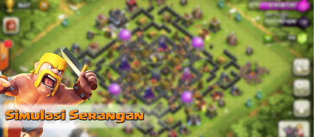 Cara Simulasi atau Training Serangan di CoC Clash of Clans