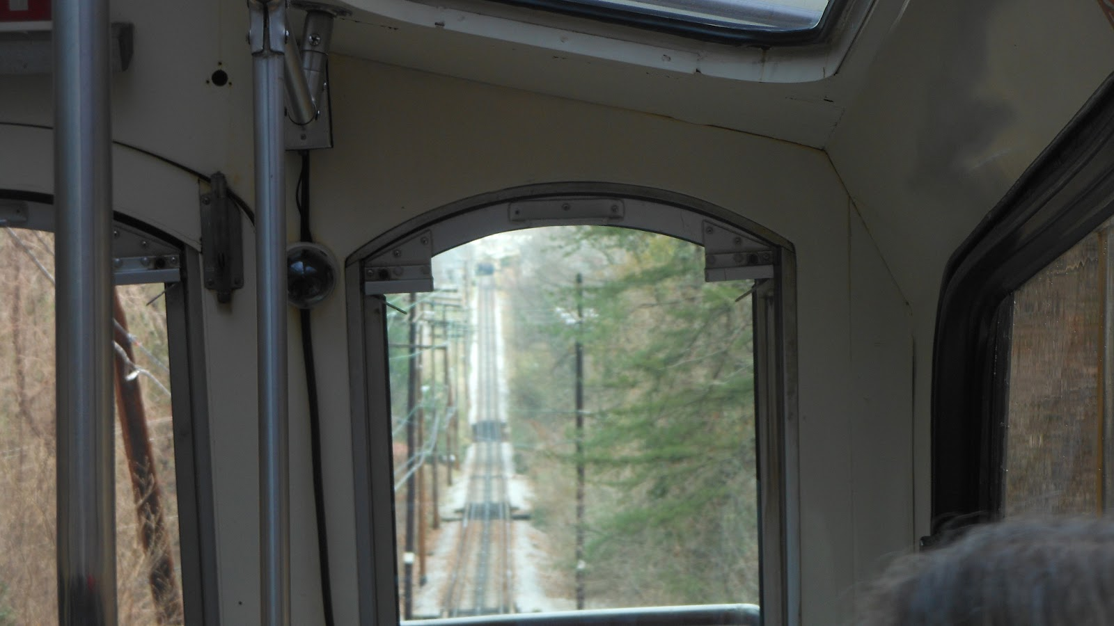 view of the incline railway track