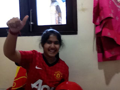 Natasha from Indonesia - Manchester United girl