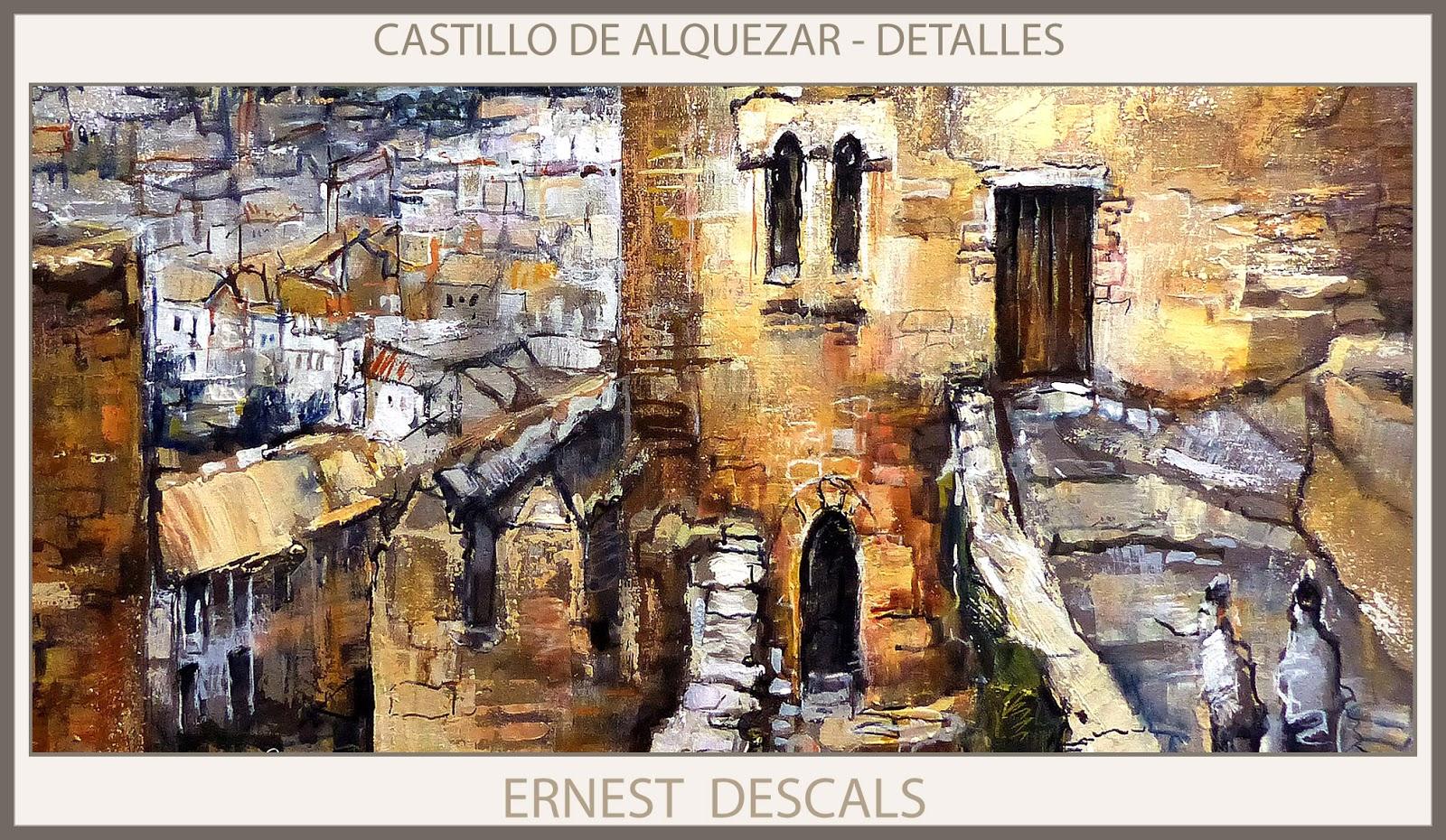 Alquezar pintura castillo pinturas huesca detalles - Cuadros online espana ...
