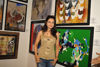 Actress Ameesha Patel Pictures in Ripped Jeans at Colors of Life Crafted Change Exhibition Inauguration   (21).jpg